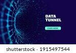 data tunnel abstract vector...   Shutterstock .eps vector #1915497544