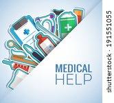 Medicine flat icons set concept. Vector illustration design