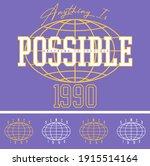 college slogan with vector...   Shutterstock .eps vector #1915514164