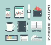 gadgets with workspace vector... | Shutterstock .eps vector #191551955