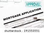 mortgage loan application form | Shutterstock . vector #191553551