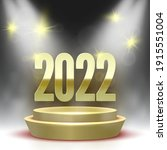 happy new year 2022 poster with ... | Shutterstock .eps vector #1915551004