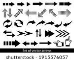 arrows big black set icons.... | Shutterstock .eps vector #1915576057