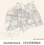 black simple detailed street... | Shutterstock .eps vector #1915585864