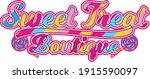 colourful sweet  treat boutique ... | Shutterstock .eps vector #1915590097