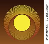 abstract sun background with ... | Shutterstock .eps vector #1915603504