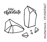 raw chocolate text with... | Shutterstock .eps vector #1915605667