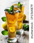 refreshing ice tea with lemon...   Shutterstock . vector #191564879