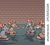 sewer rats angry pointing at... | Shutterstock .eps vector #1915652104