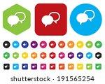 talk bubble icon    Shutterstock .eps vector #191565254