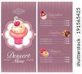 vector menu design for cake... | Shutterstock .eps vector #191565425