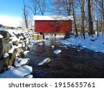 Scenic And Snowy View Of A...