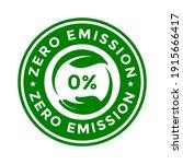 zero emission vector badge... | Shutterstock .eps vector #1915666417