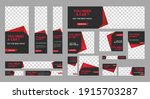 set of rent car web banners of... | Shutterstock .eps vector #1915703287