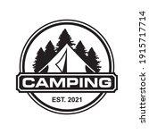 camping vector   adventure logo ... | Shutterstock .eps vector #1915717714
