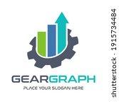 gear graph vector logo template....   Shutterstock .eps vector #1915734484