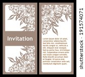 set of invitations with floral... | Shutterstock .eps vector #191574071