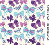 cute seamless pattern with bows. | Shutterstock .eps vector #191575691