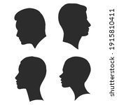 the profile of a human head ... | Shutterstock .eps vector #1915810411