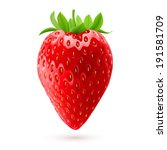 Delicious fresh strawberry isolated on white background. Realistic illustration - stock vector