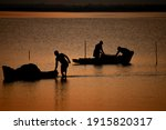 Silhouette View Of The...