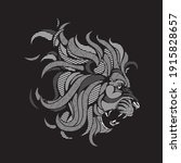 animal lion roar line graphic...   Shutterstock .eps vector #1915828657