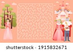 help princess to find way to...   Shutterstock .eps vector #1915832671