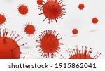 covid 19 on white background ... | Shutterstock . vector #1915862041