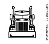 semi truck 18 wheeler trucker...   Shutterstock .eps vector #1915872391