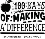100 days of making a difference   Shutterstock .eps vector #1915879927