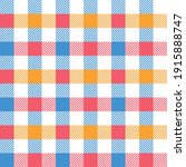 gingham pattern colorful in... | Shutterstock .eps vector #1915888747