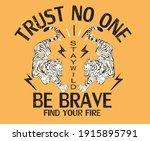 trust no one be brave japanese...   Shutterstock .eps vector #1915895791