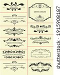 calligraphic elements and frame ... | Shutterstock .eps vector #1915908187