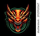 red dragon head vector... | Shutterstock .eps vector #1915910167