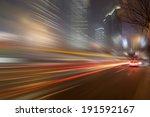 shanghai night road traffic | Shutterstock . vector #191592167