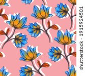 beautiful seamless floral... | Shutterstock . vector #1915924501