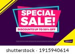 special sale discounts up to 50 ...   Shutterstock .eps vector #1915940614