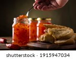 Pepper Jam With Toast On The...