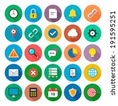 web flat icons vector...