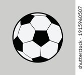 soccer ball template with... | Shutterstock .eps vector #1915960507