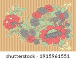 simple flower bunch motif...   Shutterstock .eps vector #1915961551