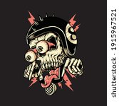 skull biker rider horror... | Shutterstock .eps vector #1915967521