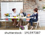 business women on a coffee break | Shutterstock . vector #191597387