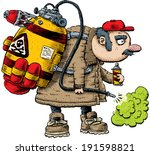 a cartoon pest exterminator... | Shutterstock .eps vector #191598821