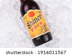 Small photo of IRVINE, CA - AUGUST 26, 2016: Shiner Bock Beer. A single bottle of Shine Bock beer from the Spoetzl Brewery in Shiner, Texas. Founded in 1909 by German and Czech immigrants.