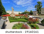 mirabell palace and garden in...   Shutterstock . vector #19160161