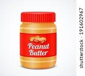 jar of peanut butter isolated... | Shutterstock .eps vector #191602967