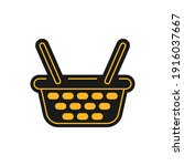 icon in the black and yellow...   Shutterstock .eps vector #1916037667