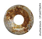 old metal washer isolated on a... | Shutterstock . vector #1916070694