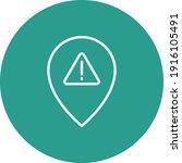 alert  pin  warning icon vector ... | Shutterstock .eps vector #1916105491
